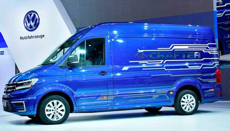 ВГанновере показали электрический фургон VW e-Crafter