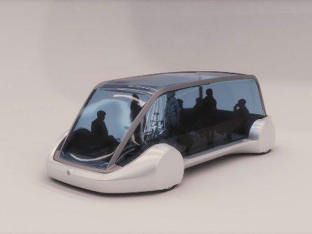 Руководитель Tesla продемонстрировал подземный электрический микроавтобус