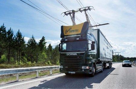 Дорога будущего: Siemens анонсировала систему для подзарядки фургонов с«троллейбусными» штангами