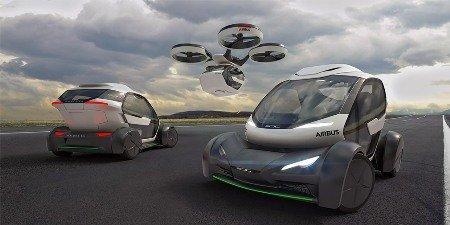 Обновленный концепт летающего такси отAirbus и Audi class=