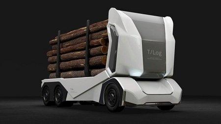 Создан беспилотный грузовой автомобиль для транспортировки древесины