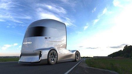 Форд представил беспилотный электрический тягач F-Vision Future Truck