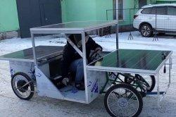 Житель Петербурга построил автомобиль, передвигающийся на солнечной энергии (видео)